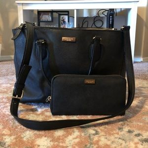 Black Kate Spade purse AND matching wallet.
